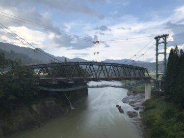 第七只見川橋梁架設